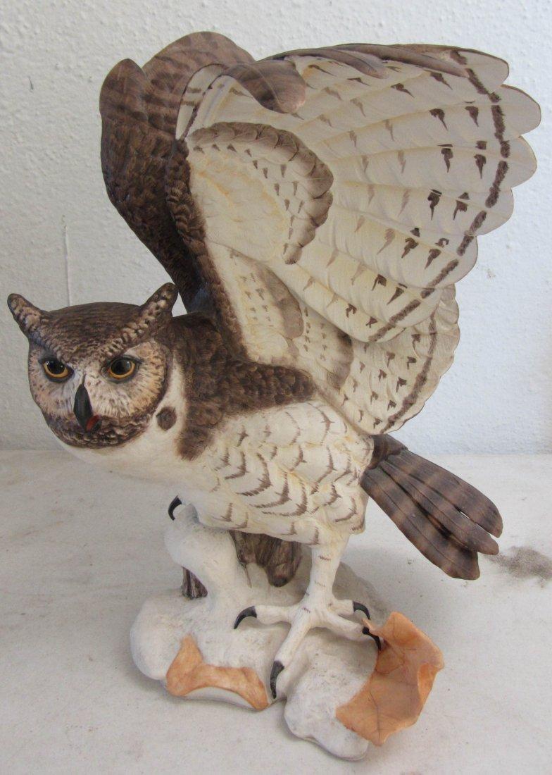 """10: Franklin Mint 13""""h porcelain owl"""