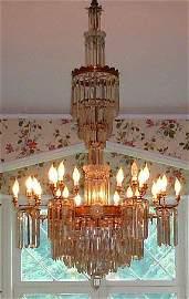 101: Pr. 5' American Eastlake Victorian candeliers