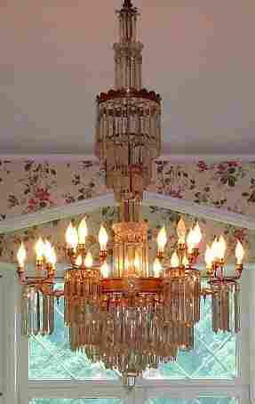 Pr. 5' American Eastlake Victorian candeliers