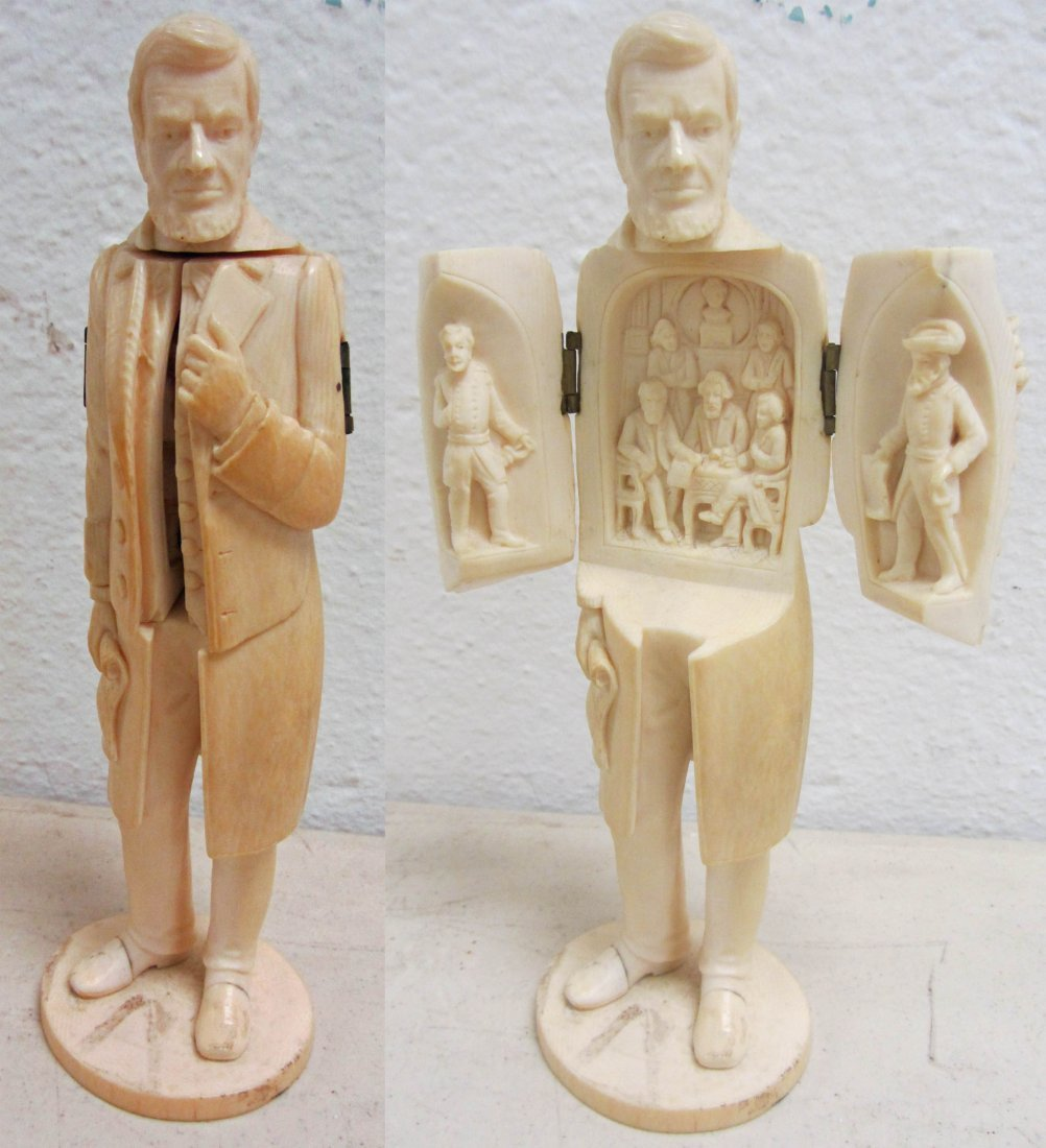 352: Rare Ivory of Abraham Lincoln