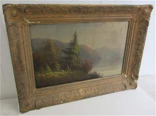 19th C. Hudson Valley School style oil on canvas