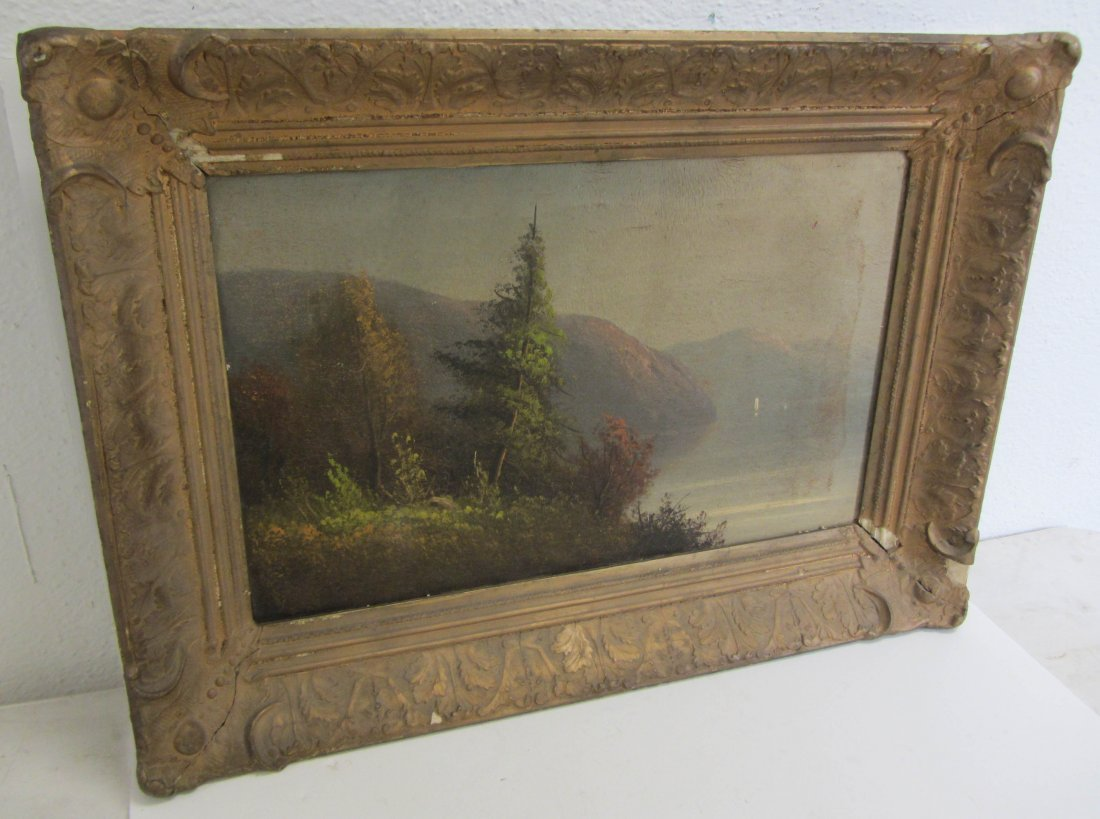 6: 19th C. Hudson Valley School style oil on canvas