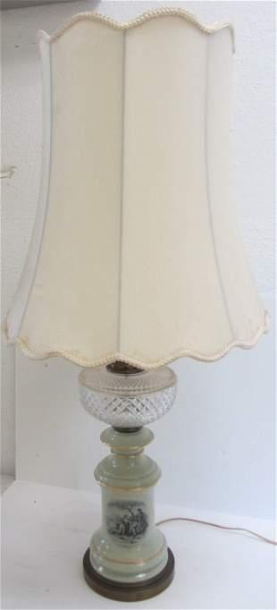 20th C. porcelain lamp