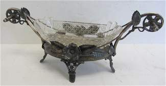 136: 19th C. Silverplate butter dish