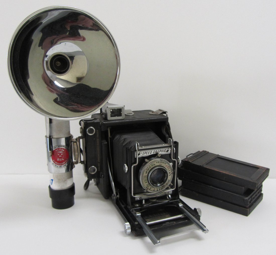 2: Speed Graphic camera with Kodak lens