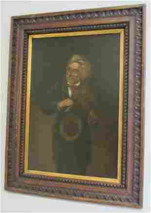 20th C. Painting of fiddler signed by artist
