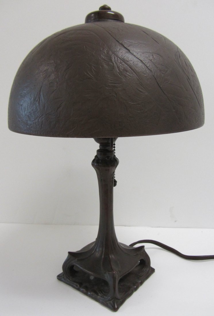 6: Period Handel style Arts and Crafts table lamp