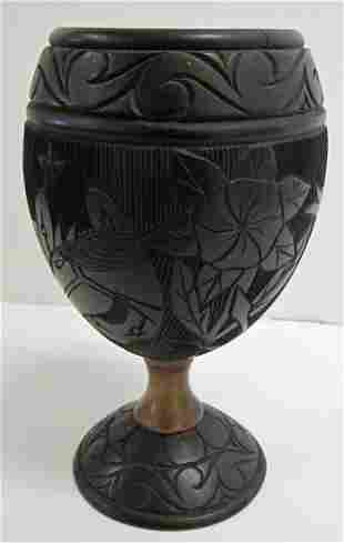 Rare 19th C. detail carved coconut shell cup