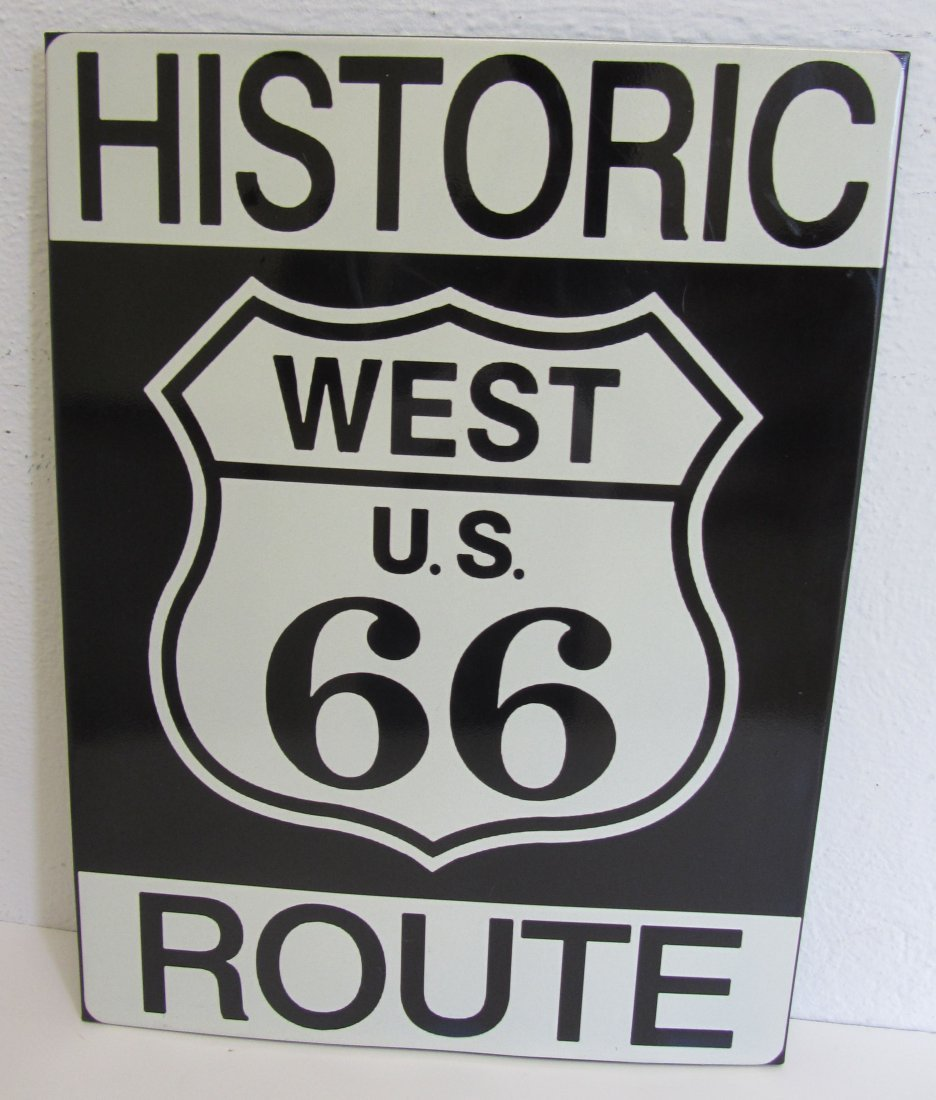Large novelty Route 66 sign