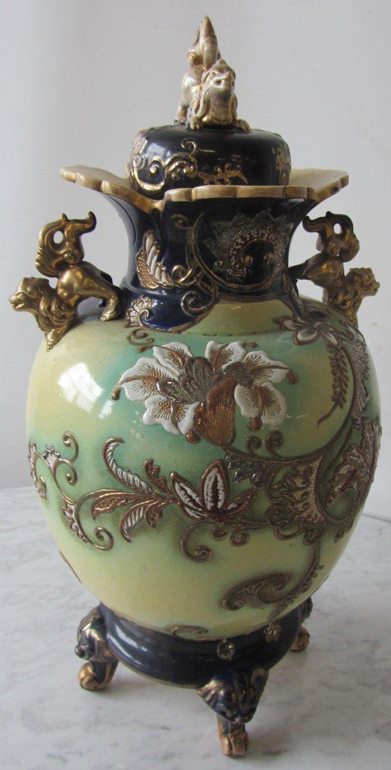 19th C. Japanese pottery satsuma urn