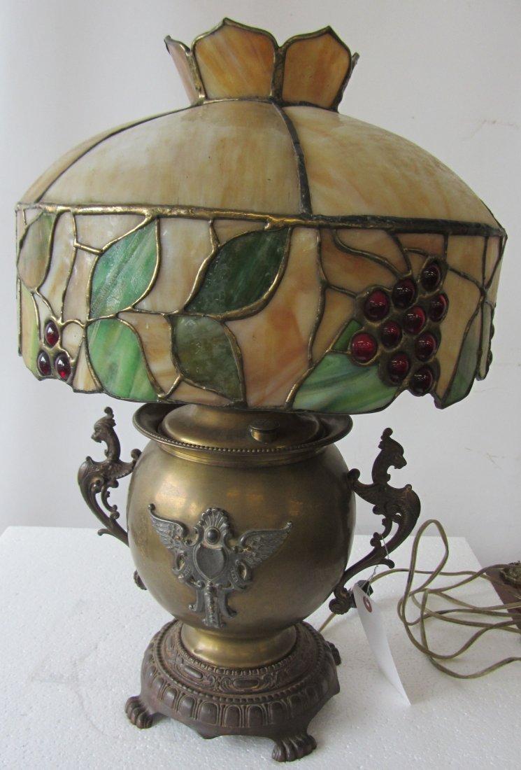 Rare brass American 19th C. oil lamp