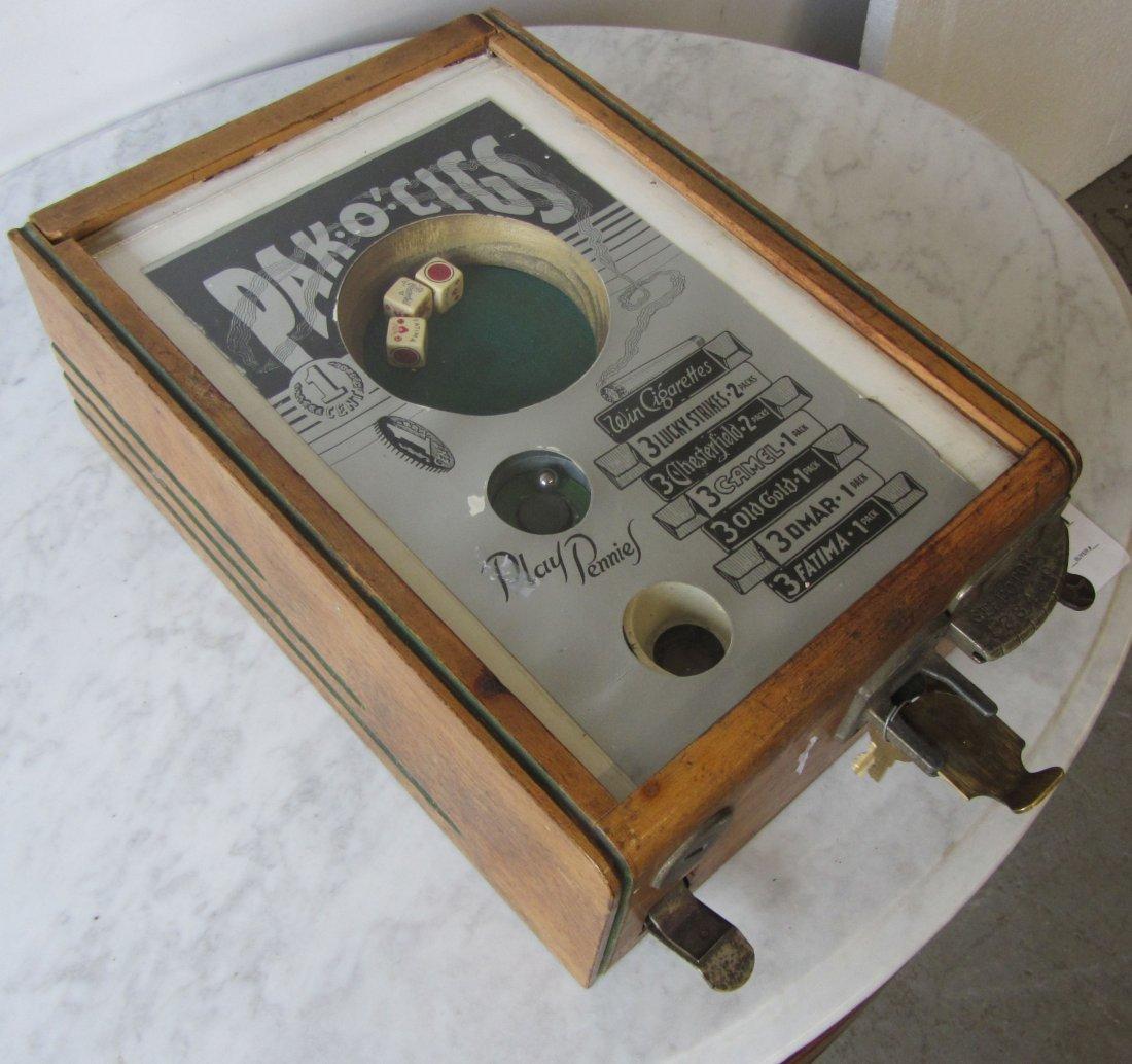 Rare 19th C. coin op dice machine