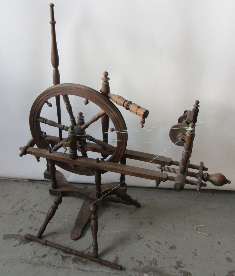 Rare 19th C. small size spinning wheel