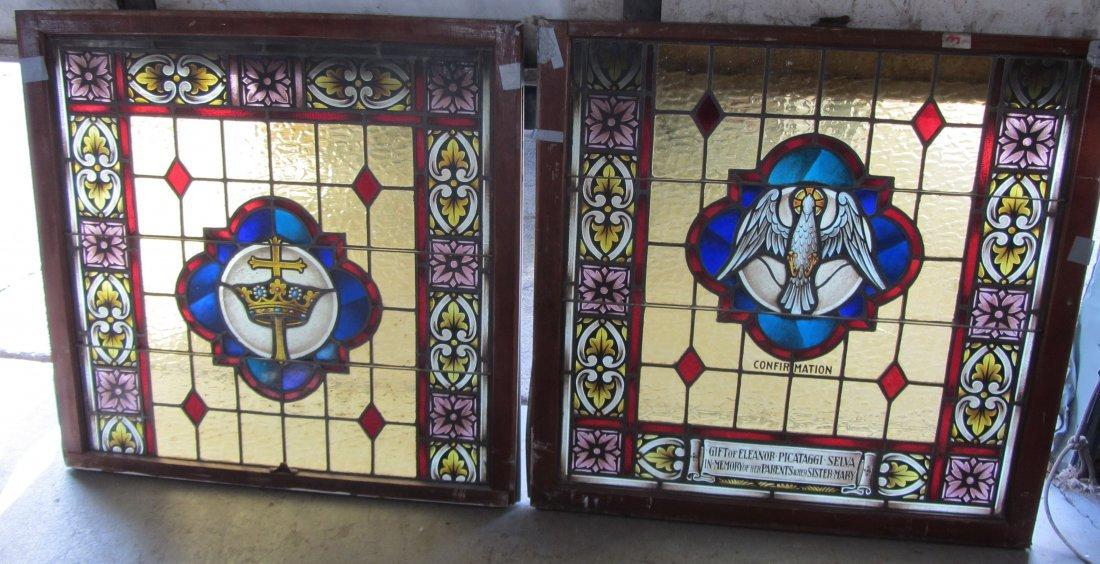 Pr. 19th C. Eastlake style gothic windows