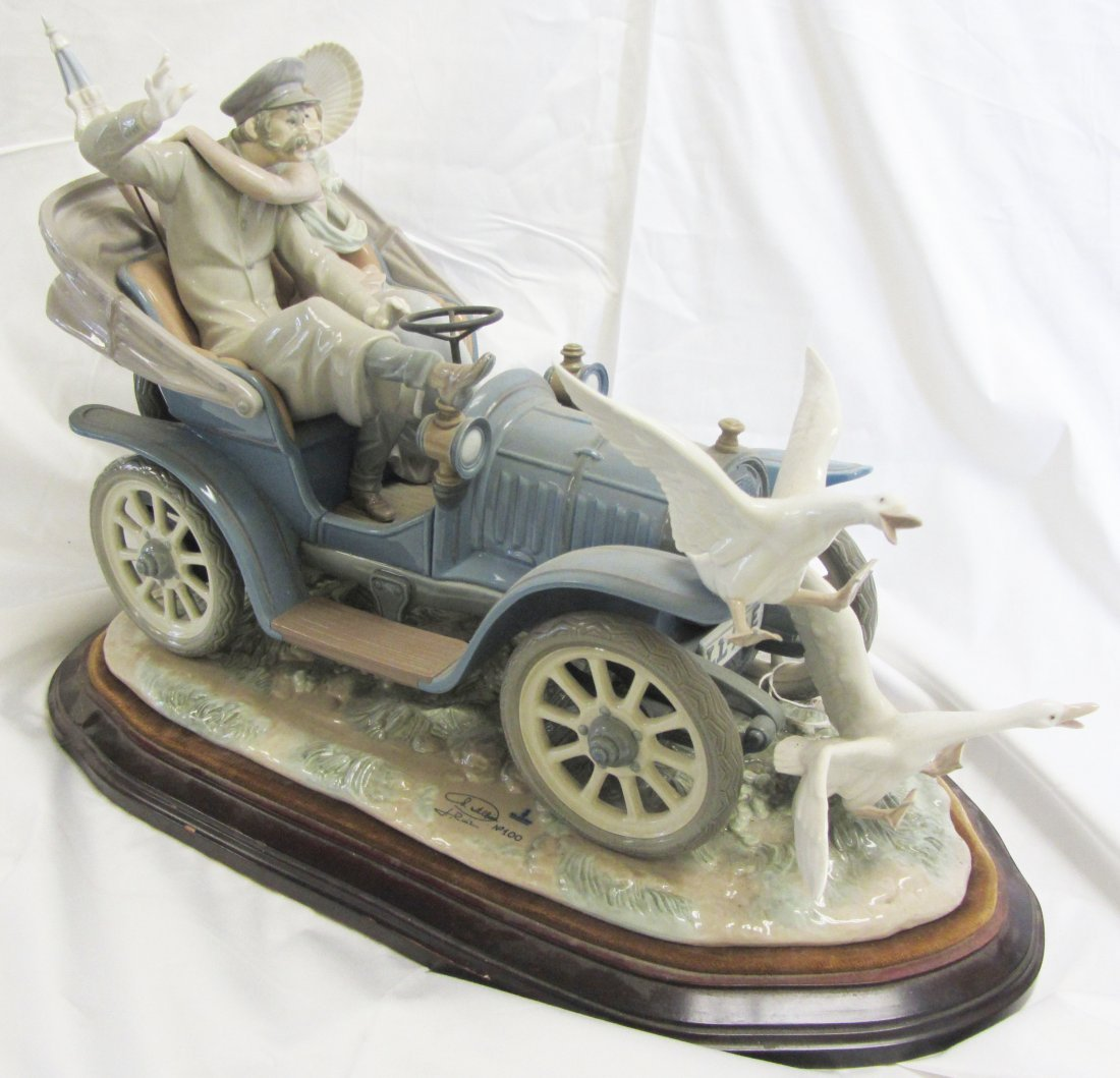 "Original large Lladro ""Car in Trouble"" number 100"