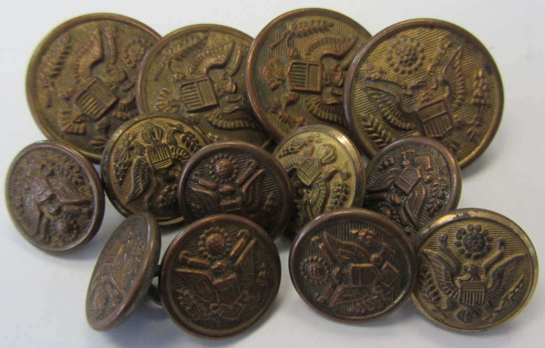13 Military buttons made by Pettibone Brothers