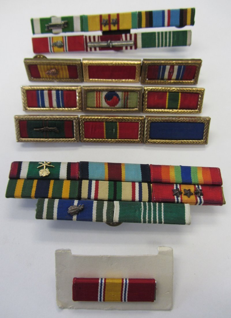 Lot of 6 Military ribbons WW2-Vietnam