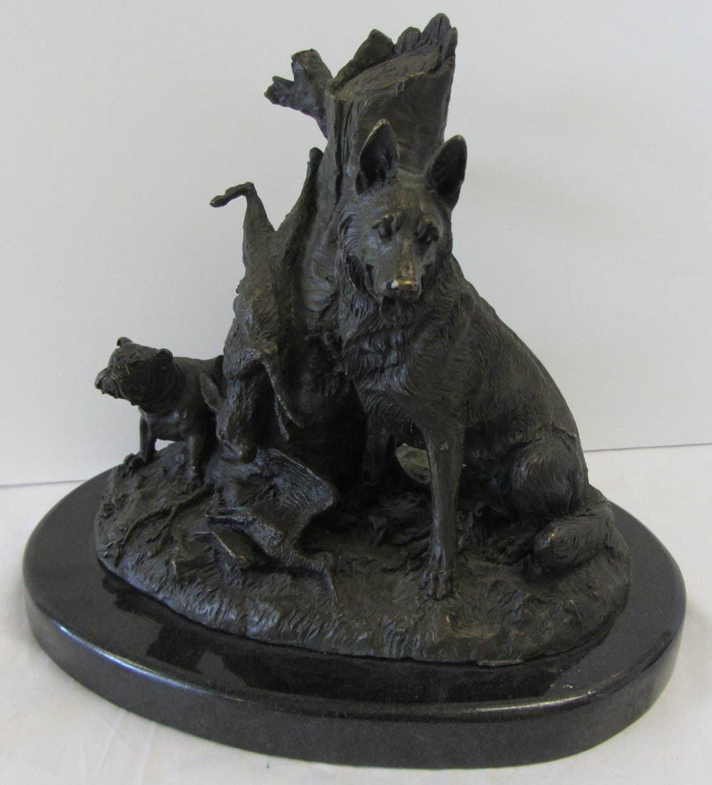 Ea. 20th C. Signed bronze of animals