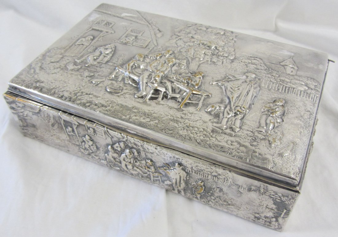 20th C. Danish silver box