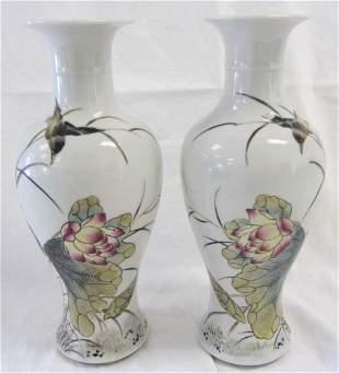 Pr. 20th C. Chinese porcelain vases
