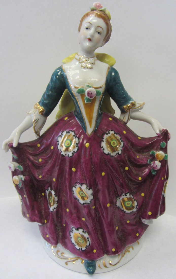 20th C. Occupied Japan porcelain figure of lady