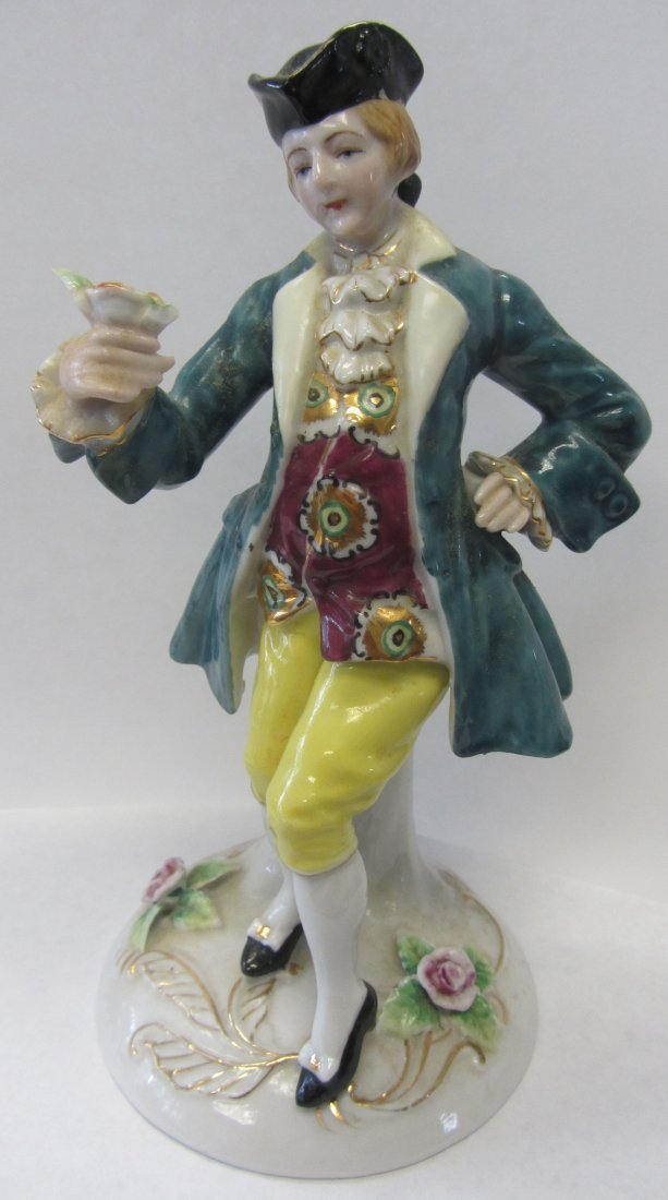 20th C. Occupied Japan porcelain figure of man