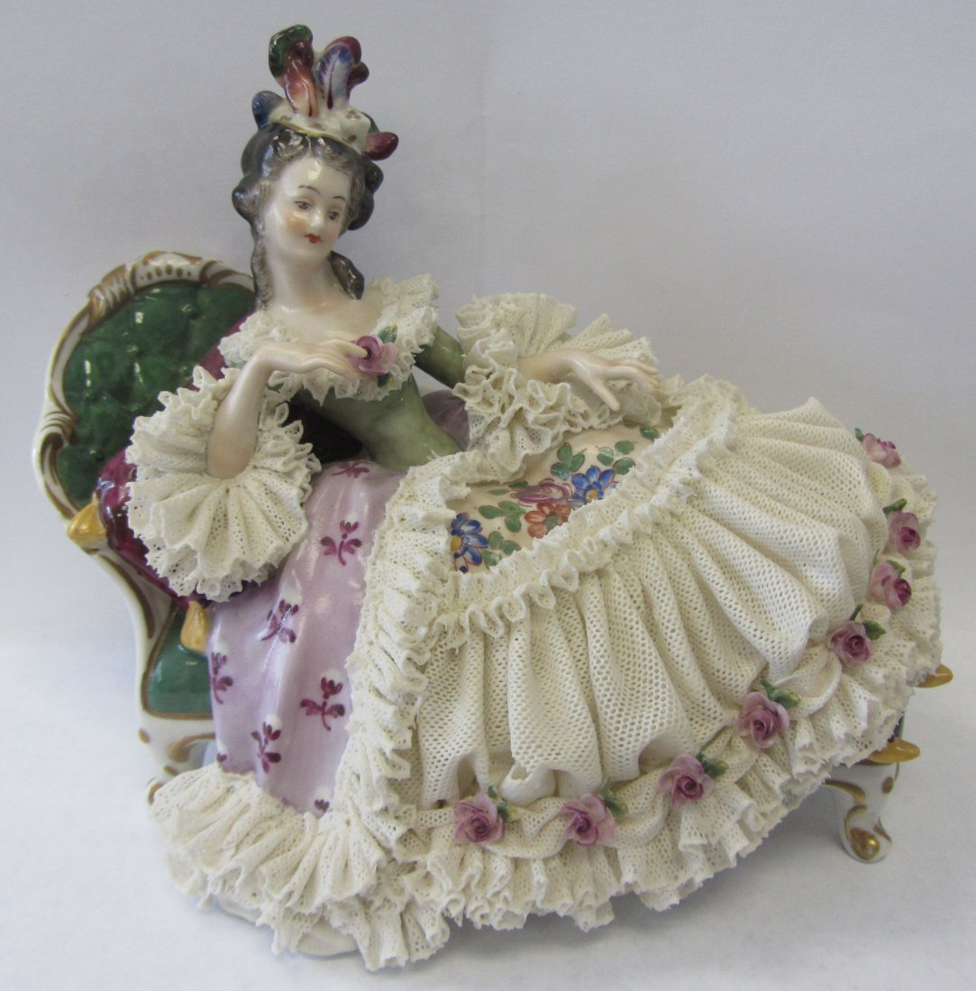 20th C. German porcelain of reclining lady