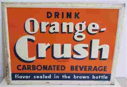 Original Orange Crush advertising sign