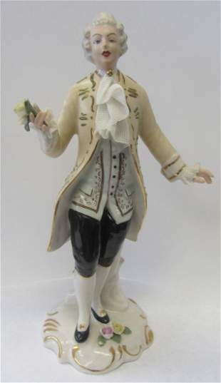 20th C. German porcelain of gentleman