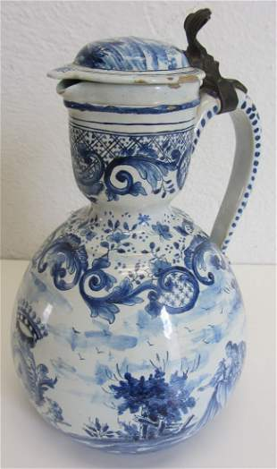 8th C. Delft pitcher with crest