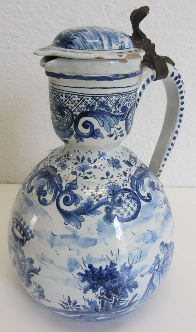 18th C. Delft pitcher with crest