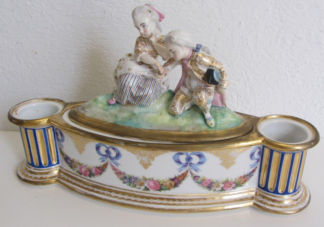 C1830 Old Paris porcelain centerpiece with figures