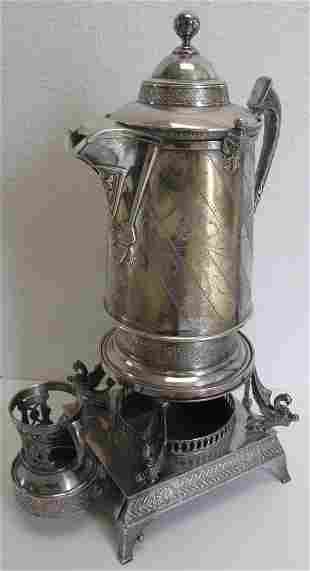 19th C. Vic. silverplate Reed and Barton pitcher