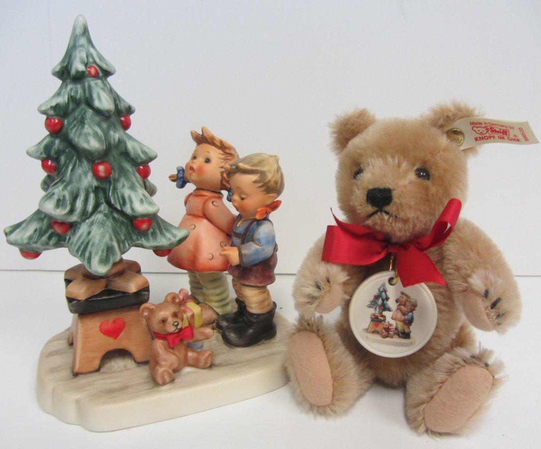 "1998 Hummel ""Wonder of Christmas"" with Steiff bear"