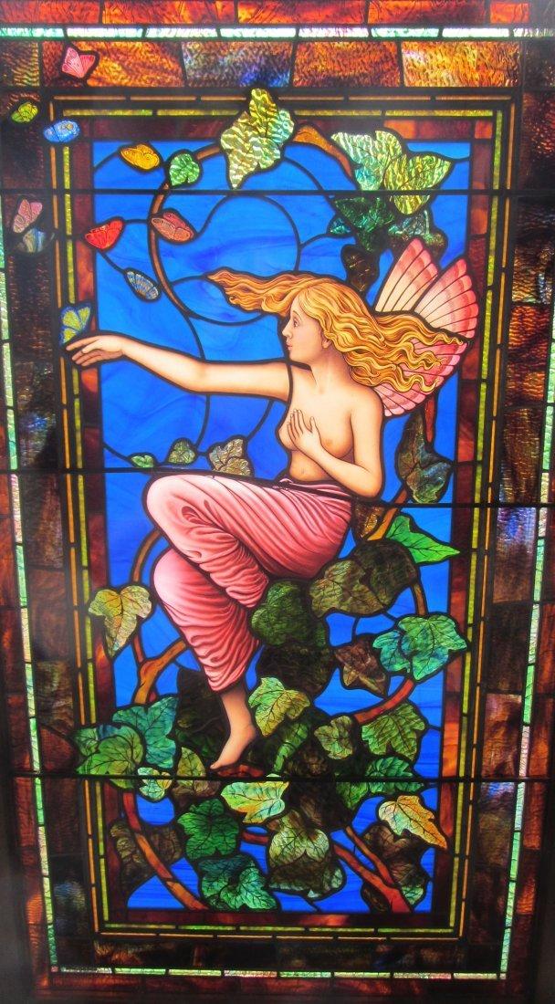 C1930 Tiffany Studios type stained glass window