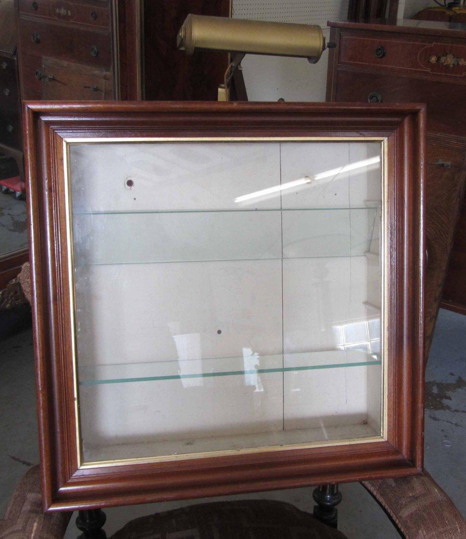 Hanging Walnut Victorian display case