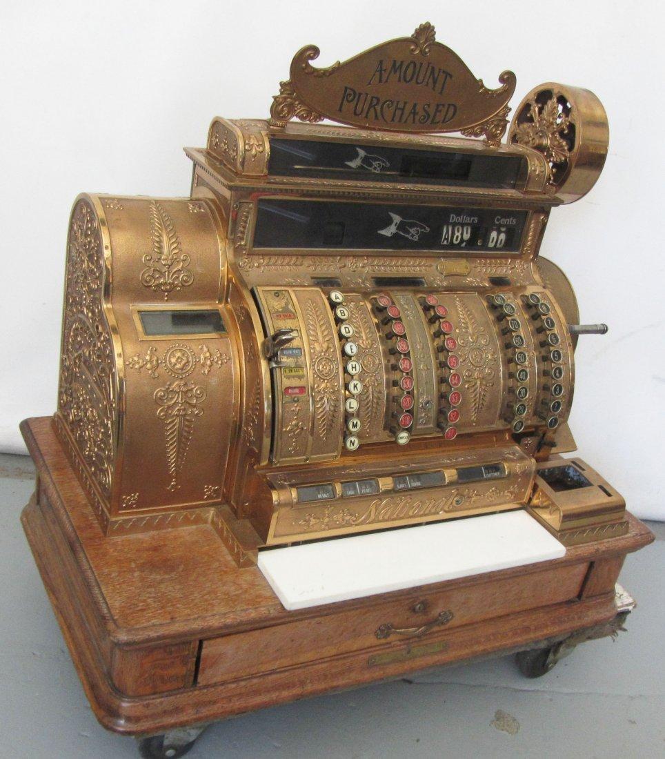 C1914 Bronze and Oak National Cash Register