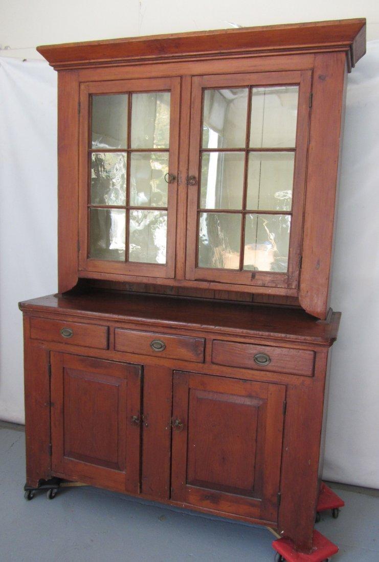 Period C1820 Pine step back cupboard