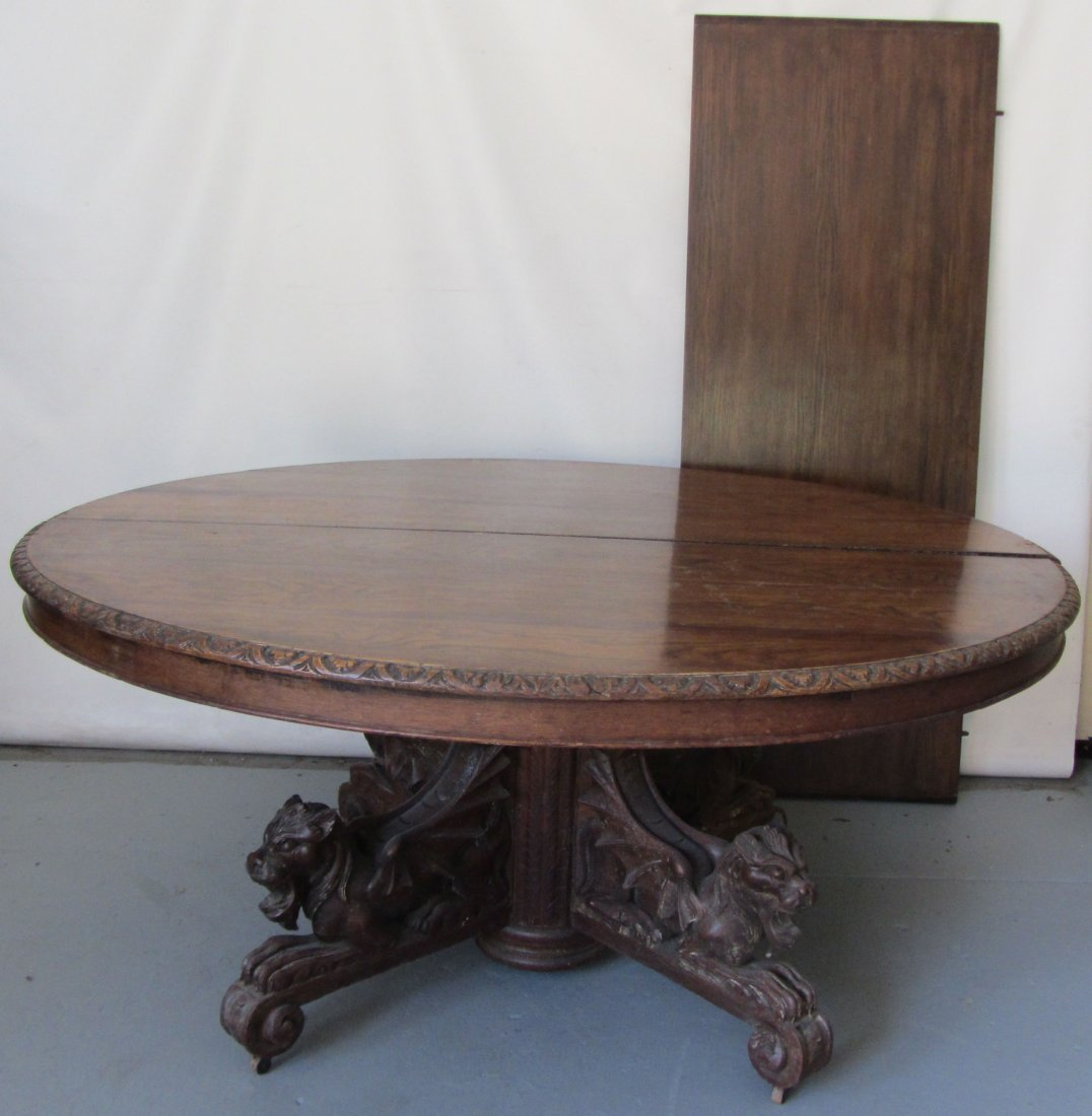 C1890 Quartersawn oak American dining table