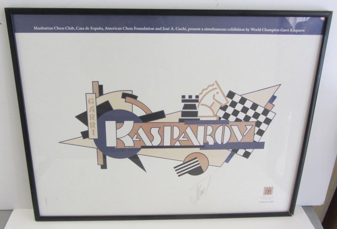 Framed and Signed Garri Kasparov artwork
