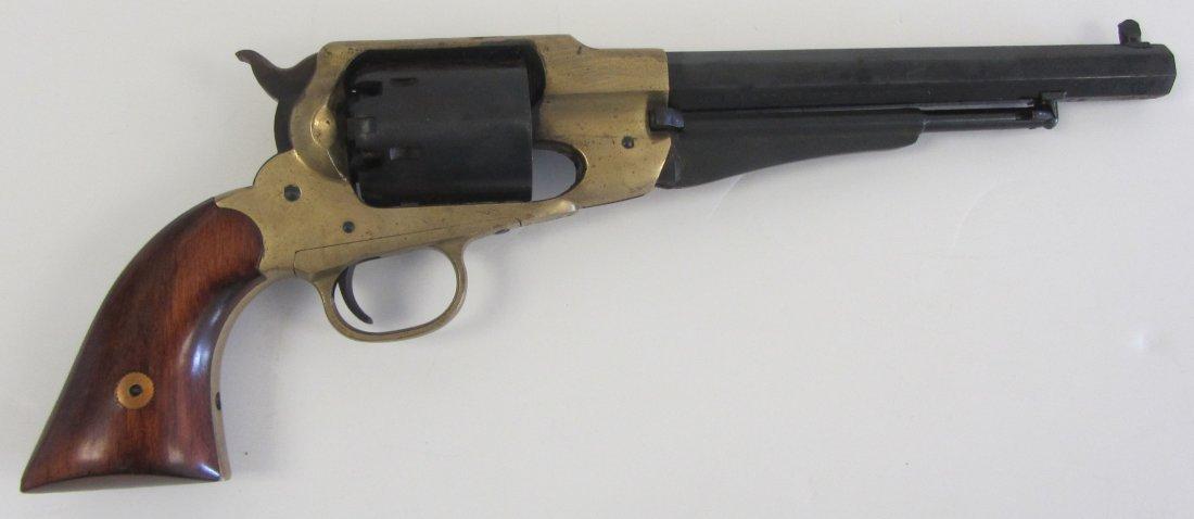 20th C. Bronze and iron black powder pistol