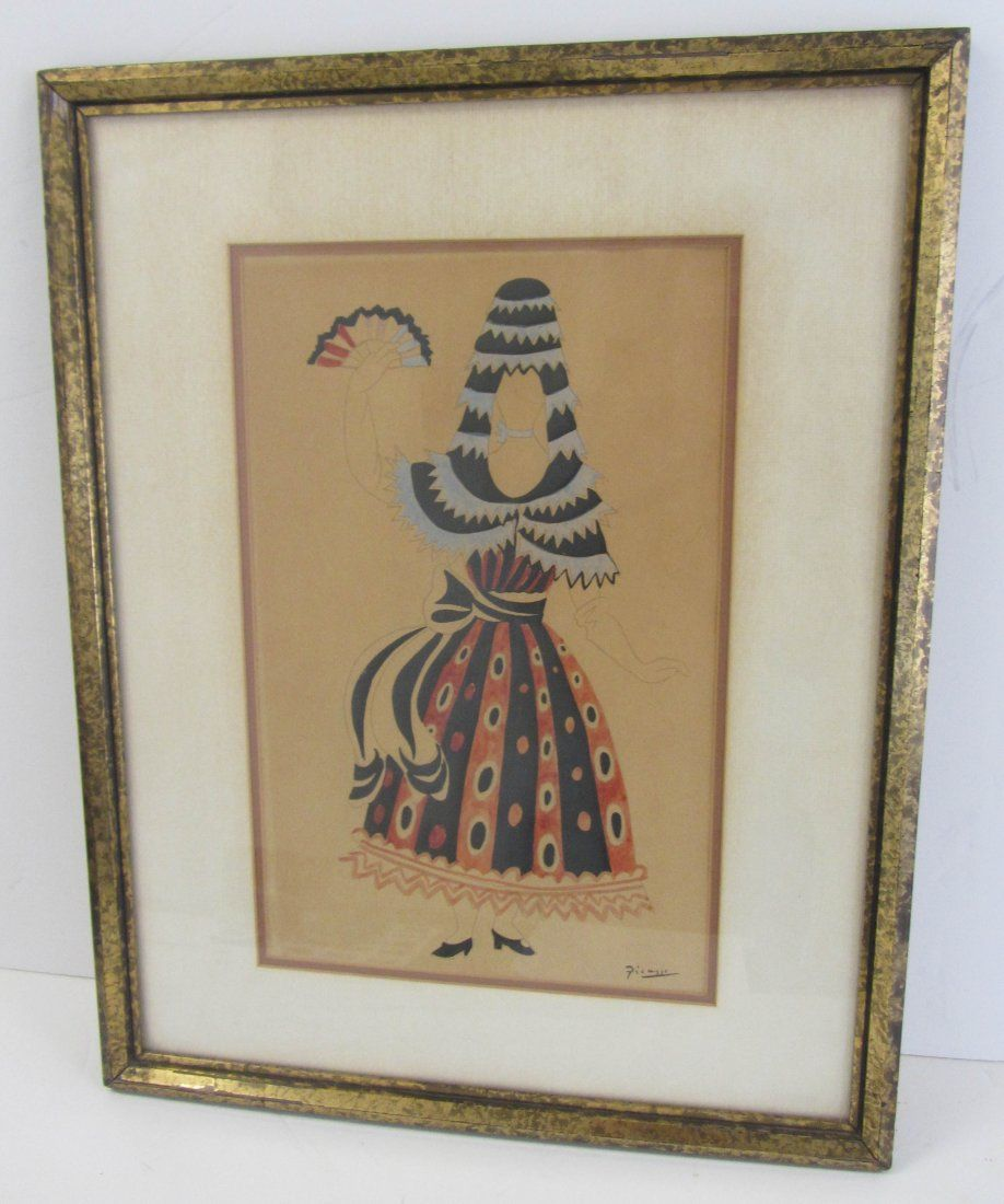 Picasso watercolor of Spanish Dancers costume