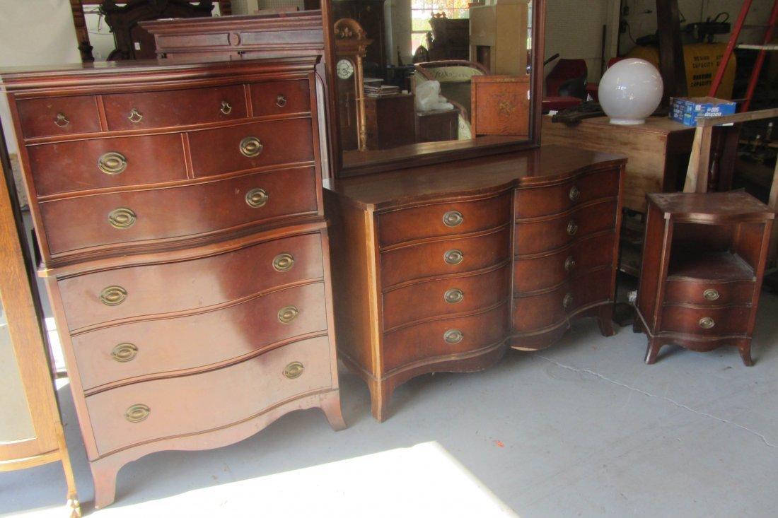 mahogany bedroom furniture. 20th C  Drexel 3 piece mahogany bedroom furniture