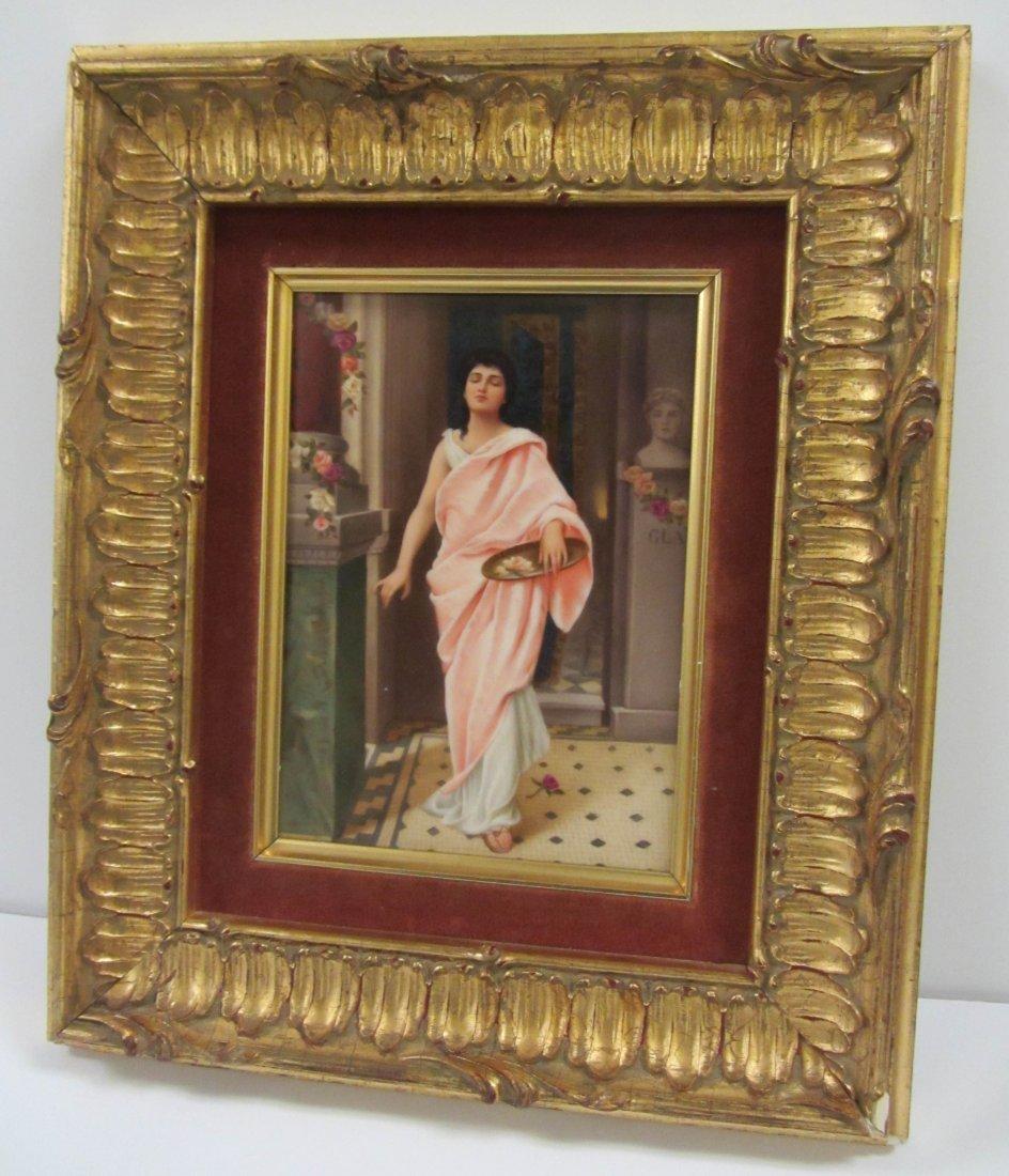 Signed KPM Porcelain plaque of pretty lady
