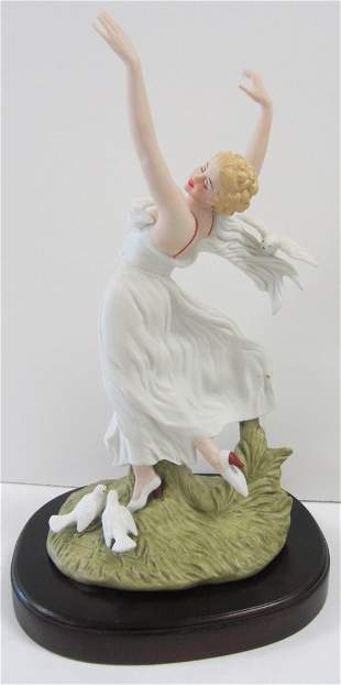 20th C. Porcelain ICart figure of dancing woman