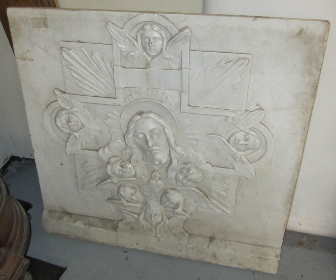 19th C. Detail carved marble frieze