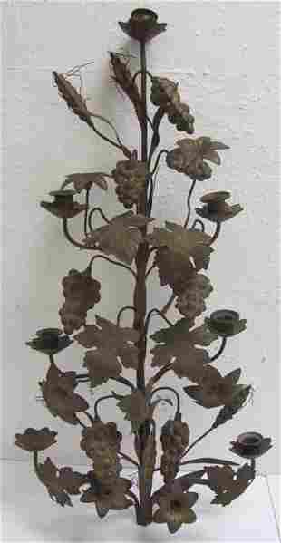 19th C. Bronze candelabra top