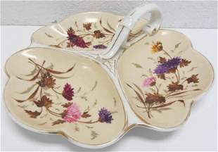 C1900 Signed Meissen handpainted candy dish