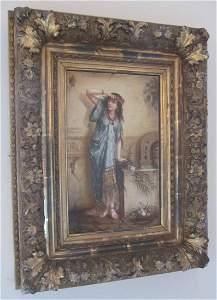 C1900 Painting on porcelain signed