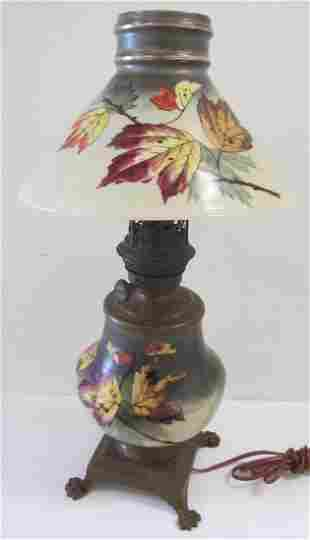 American handpainted Gone with the Wind lamp